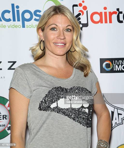 Professional wrestling personality Alicia Webb attends the Raising the Stakes for Cerebral Palsy Celebrity Poker Tournament at Planet Hollywood...