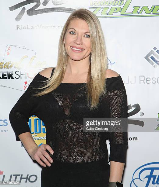 Professional wrestling personality Alicia Webb the All in for CP celebrity charity poker event at the Rio Hotel Casino benefiting the One Step Closer...