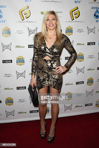 Professional wrestling valet Alicia Webb arrives at One Step Closer Foundation's seventh annual AllIn For Cerebral Palsy Celebrity Poker Tournament...