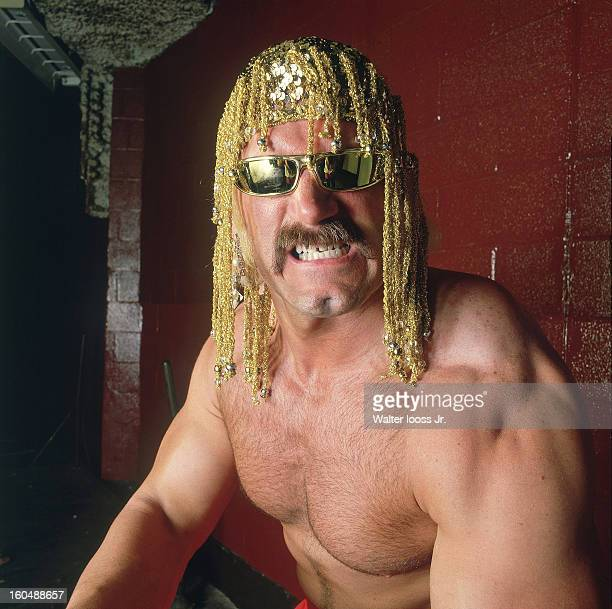 World Wrestling Federation Closeup portrait of Jesse The Body Ventura posing during photo shoot at Madison Square Garden New York NY CREDIT Walter...