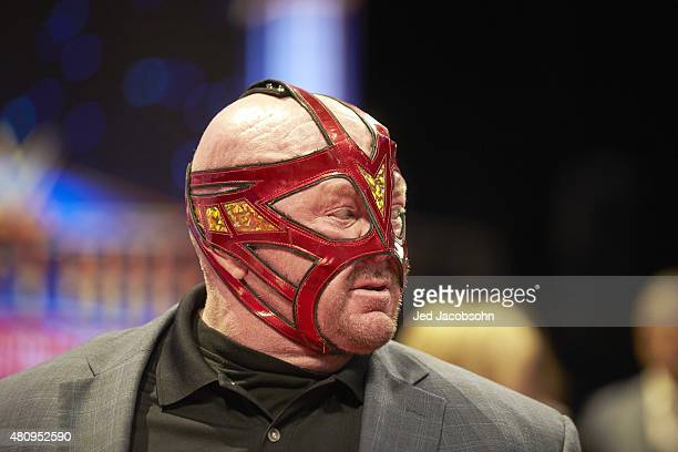 WWE Hall of Fame Induction Closeup of Big Van Vader during ceremony at SAP Center San Jose CA CREDIT Jed Jacobsohn