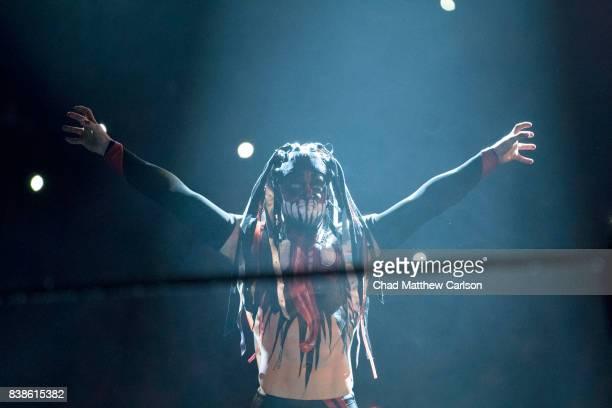 WWE SummerSlam Finn Balor making entrance before match vs Bray Wyatt at Barclays Center Brooklyn NY CREDIT Chad Matthew Carlson