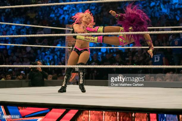 WWE SummerSlam Sasha Banks in action vs Alexa Bliss at Barclays Center Brooklyn NY CREDIT Chad Matthew Carlson