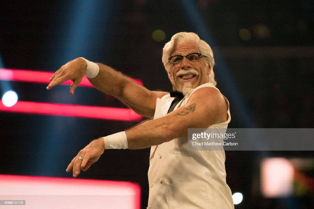 2017 wwe summerslam pictures getty images shawn michaels as colonel sanders promoting kfc at barclays center chad matthew carlson tk1 m4hsunfo