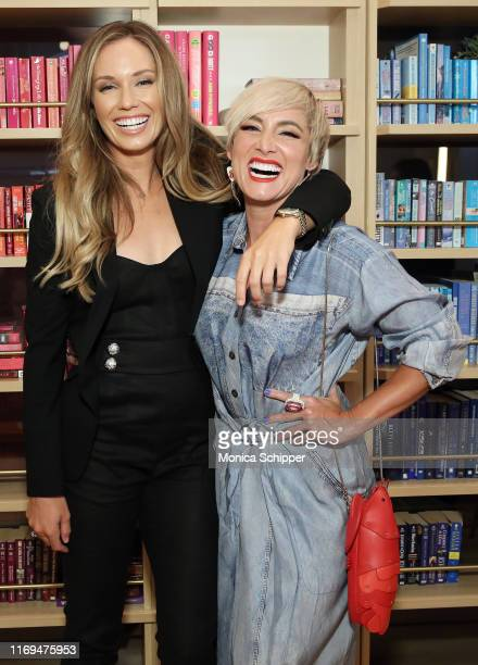 """Professional WTA players Danielle Collins and Bethanie Mattek-Sands attend a WTA panel discussion, """"Women in Tennis Taking Action: A Conversation on..."""