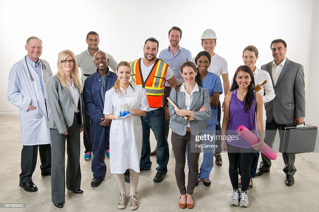 Professionals Standing Together : Stock Photo