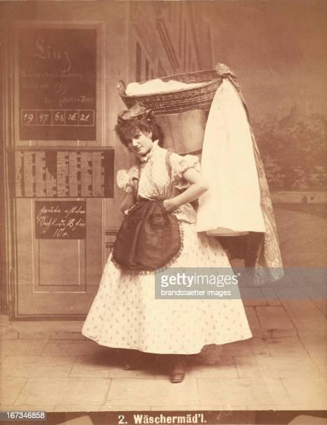 Professions Washer girl From the series Viennese types nr 2 1873/75 Photograph by Otto Schmidt Berufe Wäschermädel Aus der Serie Wiener Typen Nr 2...