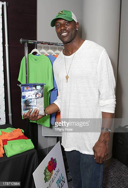 Professonal athlete Terrell Owens attends GBK's Poker And Gift PreESPY Lounge at Andaz Hotel on July 16 2013 in Los Angeles California