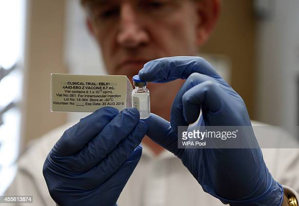 Professor Adrian Hill Director of the Jenner Institute and Chief Investigator of the trials with the ebola vaccine called Chimp Adenovirus type 3...