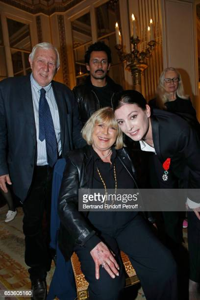 Professor Alain Deloche Haider Ackermann Marianne Faithfull and MarieAgnes Gillot attend MarieAgnes Gillot is decorated 'Chevalier de lordre national...