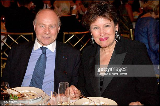 Professor Alain Pompidou and Roselyne Bachelot at Premiere Of Film 'Faubourg 36' At Ugc Normandie In Benefit Of Claude Pompidou Foundation