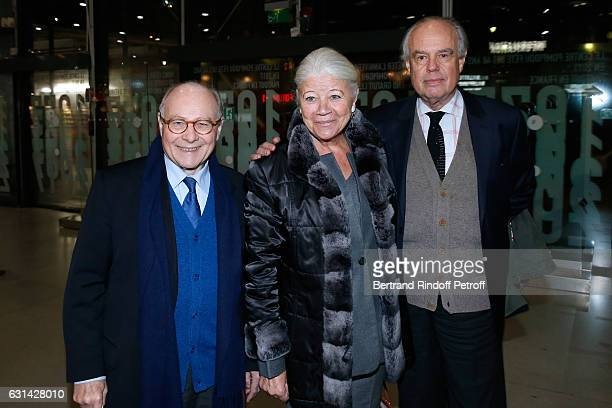 Professor Alain Pompidou his wife Nicole and Former Minister of Culture Frederic Mitterrand attend the celebration of the 40th Anniversary of the...