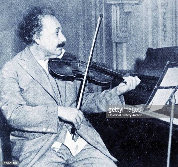 Professor Albert Einstein playing his violin