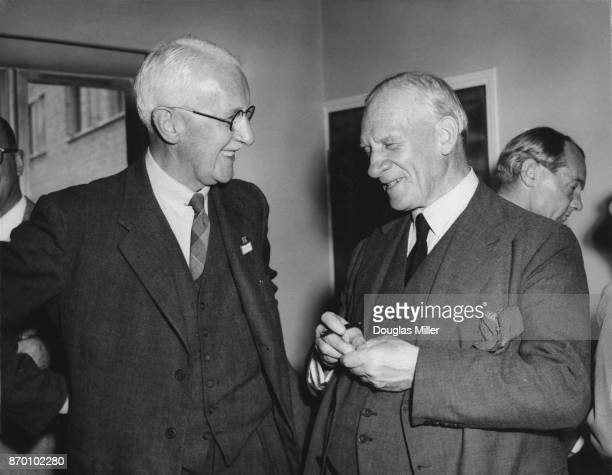 Professor Archibald Hill , known as A. V. Hill, of the University of London, and Sir Robert Robinson , President Elect of the British Association for...