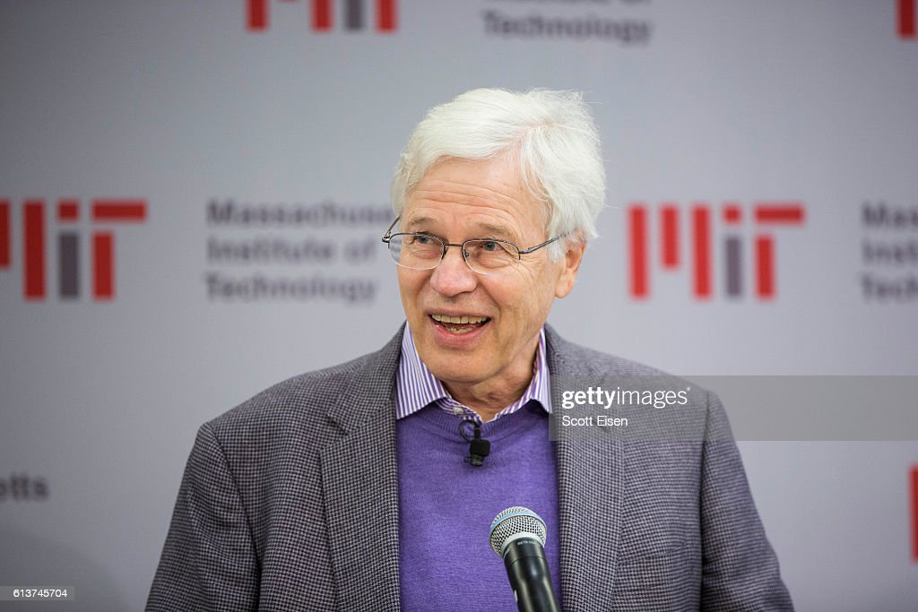 Professor Bengt Holmstrom during a press conference at MIT announcing his shared Nobel Prize in Economics with Harvard Professor Oliver Hart on October 10, 2016 in Cambridge, Massachusetts. Holmstrom and Hart won the prize for their work on contract theory.