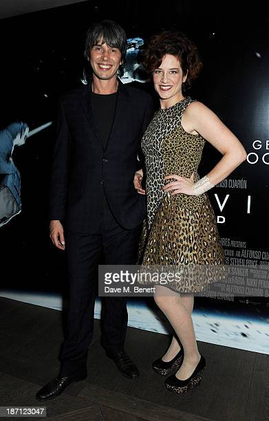 Professor Brian Cox and wife Gia Milinovich attend a special screening of 'Gravity' hosted by Professor Brian Cox at The Mayfair Hotel on November 6,...