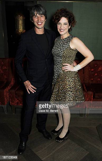 Professor Brian Cox and wife Gia Milinovich attend a special screening of 'Gravity' hosted by Professor Brian Cox at The Mayfair Hotel on November 6...