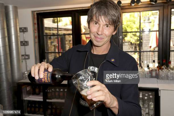 Professor Brian Cox discovers the world of brewing as he launches 'Cosmic Brew' at The Union Club on September 25 2018 in London England