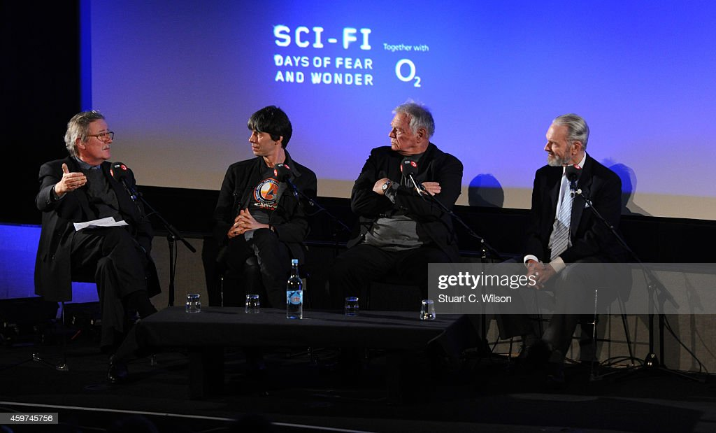 Professor Brian Cox, Keir Dullea, Christopher Frayling and Gary Lockwood attend a panel discussion prior to a screening of '2001: A Space Odyssey', presented by the BFI For BBC Radio 3 at BFI Southbank on November 30, 2014 in London, England.