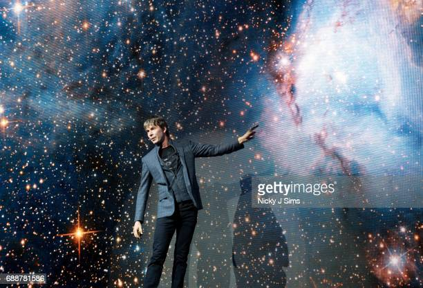 Professor Brian Cox performs his Guinness World Record breaking live tour show Professor Brian Cox Live at SSE Arena Wembley on May 26 2017 in London...