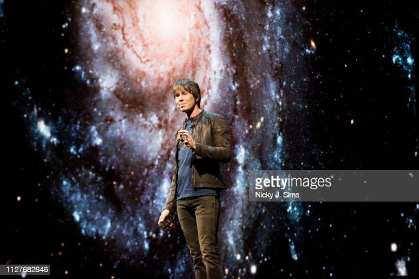 Professor Brian Cox performs his live tour Universal Adventures in Space and Time World Tour 2019 to a sell out crowd at The SSE Arena Wembley on...