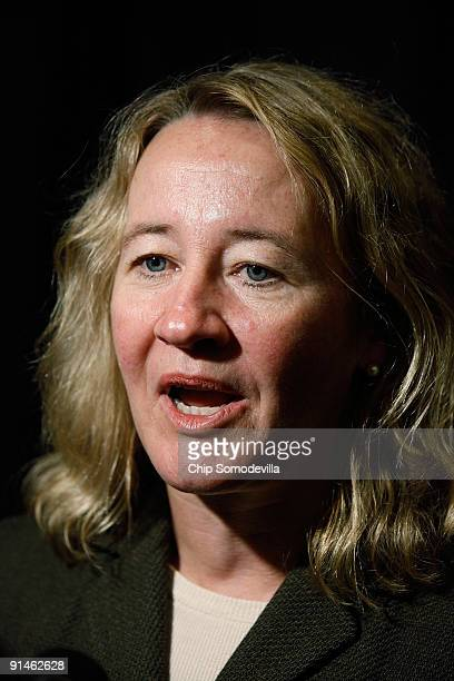 Professor Carol Greider is interviewed by members of the news media after it was announced that she won the 2009 Nobel Prize in Physiology or...