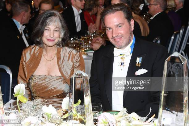 Professor Carolee J Winstein and Chrsitopher O'Neill attend the Nobel Prize Banquet 2017 at City Hall on December 10 2017 in Stockholm Sweden