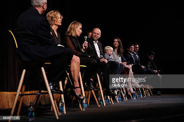SCAD Professor Chris Auer Actress Meg Ryan and Producer Janet Brenner actor Alex Neustaedter actor Spencer Howell actress Lois Robbins actress Robin...