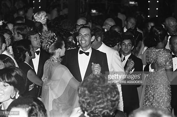 Professor Christian Barnard and Princess Grace dancing during the Red cross gala in Monaco on August 10th1968