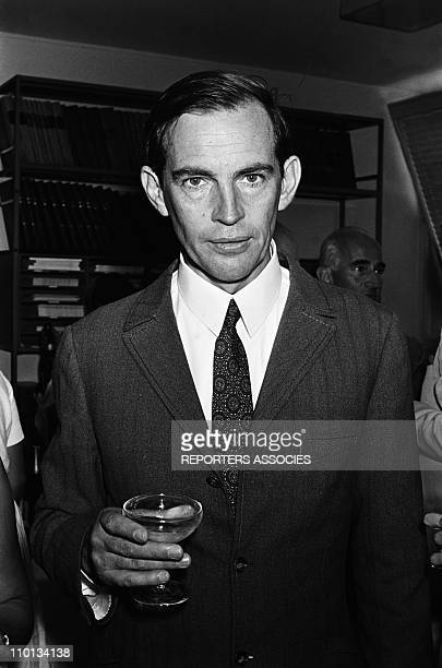 Professor Christian Barnard at Princess Grace hospital in Monaco on August 10th1968