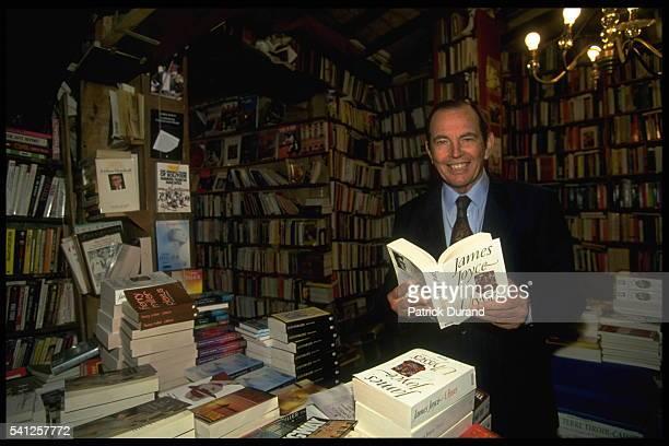 Professor Christian Barnard in a bookshop