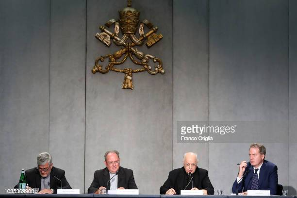 Director of the Holy See Press Office and Pope's spokeman Greg Burke attends a Press Conference for the publication of the Apostolic Constitution...