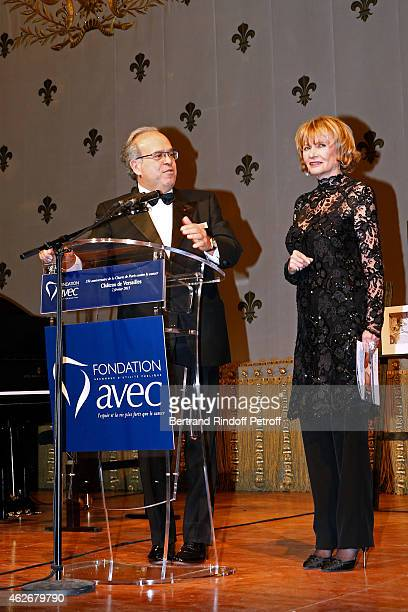 Professor David Khayat and Eve Ruggieri attend the David Khayat Association 'AVEC' Gala Dinner Held at Versailles Castle on February 2 2015 in...