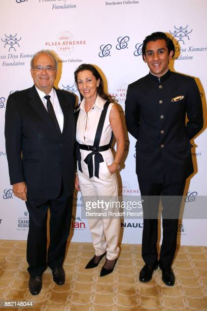 Professor David Khayat his wife Jocelyne and HRH the Maharaja Sawai Padmanabh Singh of jaipur attend the Charity Gala to Benefit the 'Princess Diya...