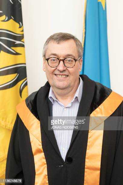 Professor dr. Mathias Dewatripont pictured during a ceremony for the Doctors Honoris Causa honorary degrees at the Antwerp University, Thursday 04...