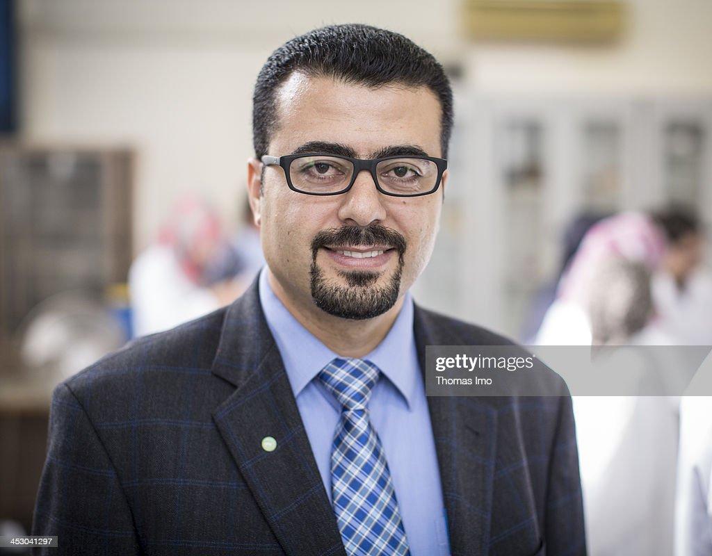 Professor Dr. Sami El-Deeb at the Al-Azhar University on November 06, 2013 in Gaza City, The Palestinian Territories.
