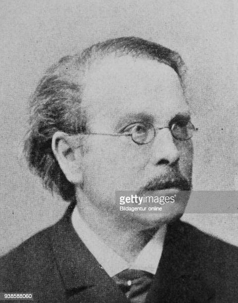 Professor Dr Wilhelm Ritter von Hertz 24 September 1835 7 January 1902 was a German writer reproduction of a photo from the year 1895 digital improved