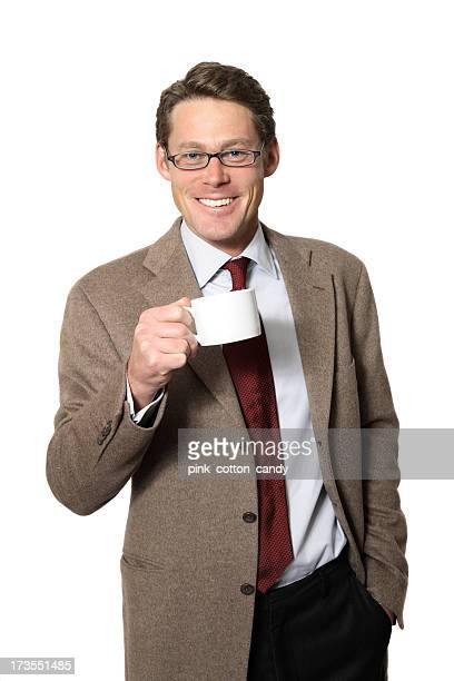 professor drinks coffee - 30 39 years stock pictures, royalty-free photos & images