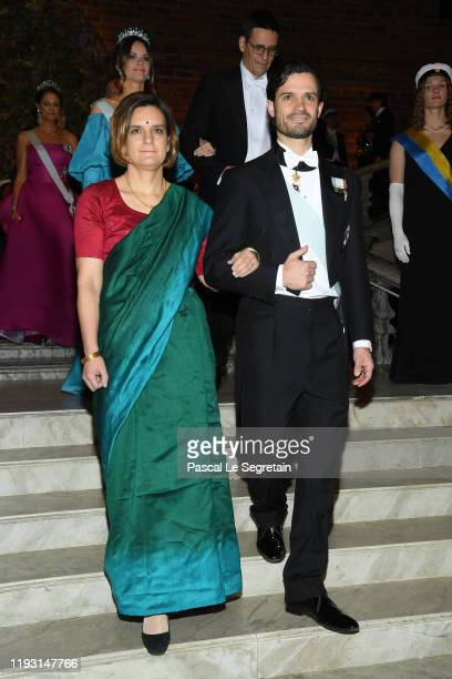 Professor Esther Duflo laureate of the Sveriges Riksbank Prize in Economic Sciences in Memory of Alfred Nobel and Prince Carl Philip of Sweden arrive...