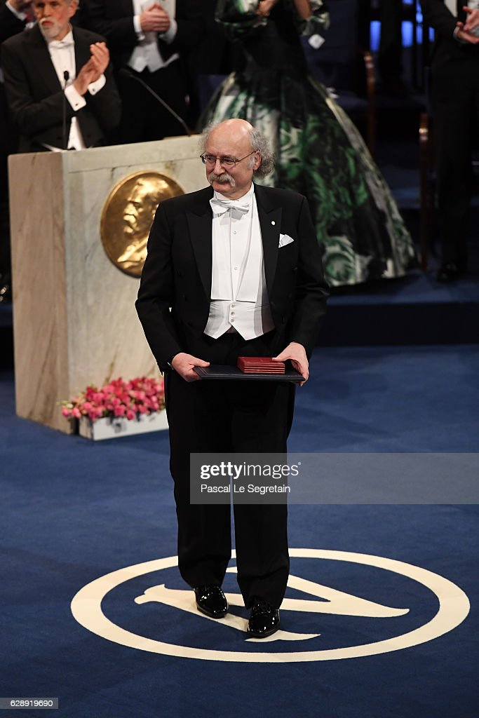 Professor F. Duncan M. Haldane, laureate of the Nobel Prize in Physics acknowledges applause after he received his Nobel Prize from King Carl XVI Gustaf of Sweden during the Nobel Prize Awards Ceremony at Concert Hall on December 10, 2016 in Stockholm, Sweden.