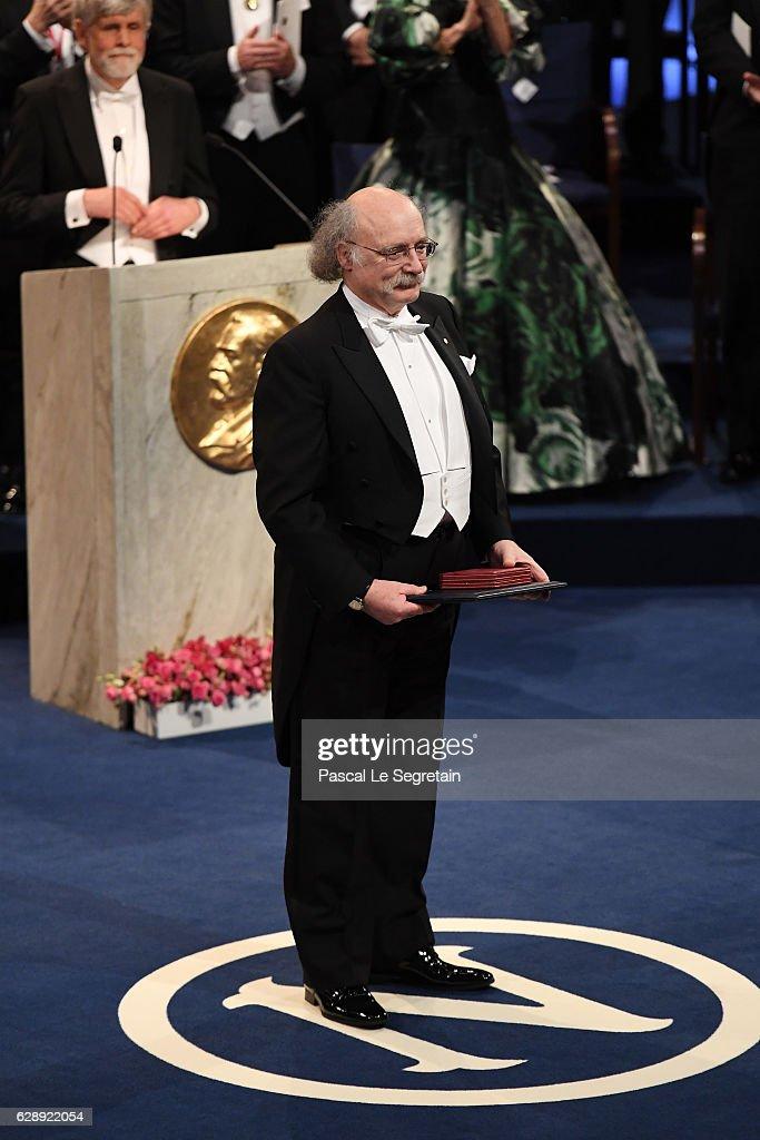 Professor F. Duncan M. Haldane, laureate of the Nobel Prize in Physics acknowledges applause after he received his Nobel Prize from King Carl XVI Gustaf of Sweden during the Nobel Prize Awards Ceremony at Concert Hall on December 10, 2016 in Stockholm, Sweden.