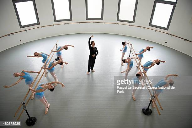 Professor Fanny Gaida teaches pupils at the National Opera Ballet School on February 20 2013 in Nanterre France The oldest ballet school of the...