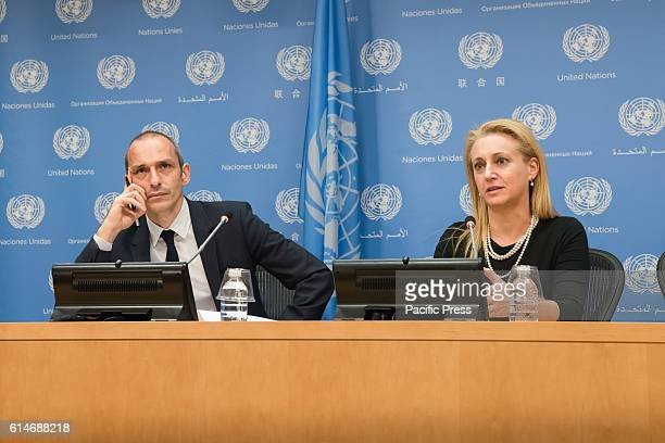 Professor François Dubuisson and Lara Friedman participate in the press conference. Following an Arria-formula meeting of the United Nations Security...
