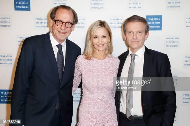 Professor Gerard Friedlander Marie Saldmann and Professor Frederic Saldmann attend Les Stethos D'Or 2018 Gala at Four Seasons Hotel George V on March...