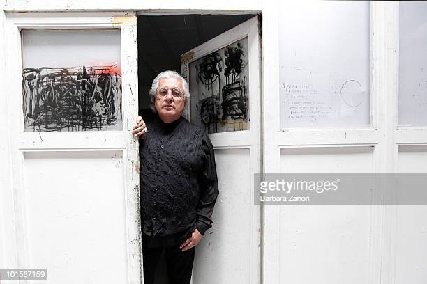 Professor Germano Celant curator of Fondazione Emilio Vedova during the opening of exhibition on June 3 2010 in Venice Italy The exhibition of Works...