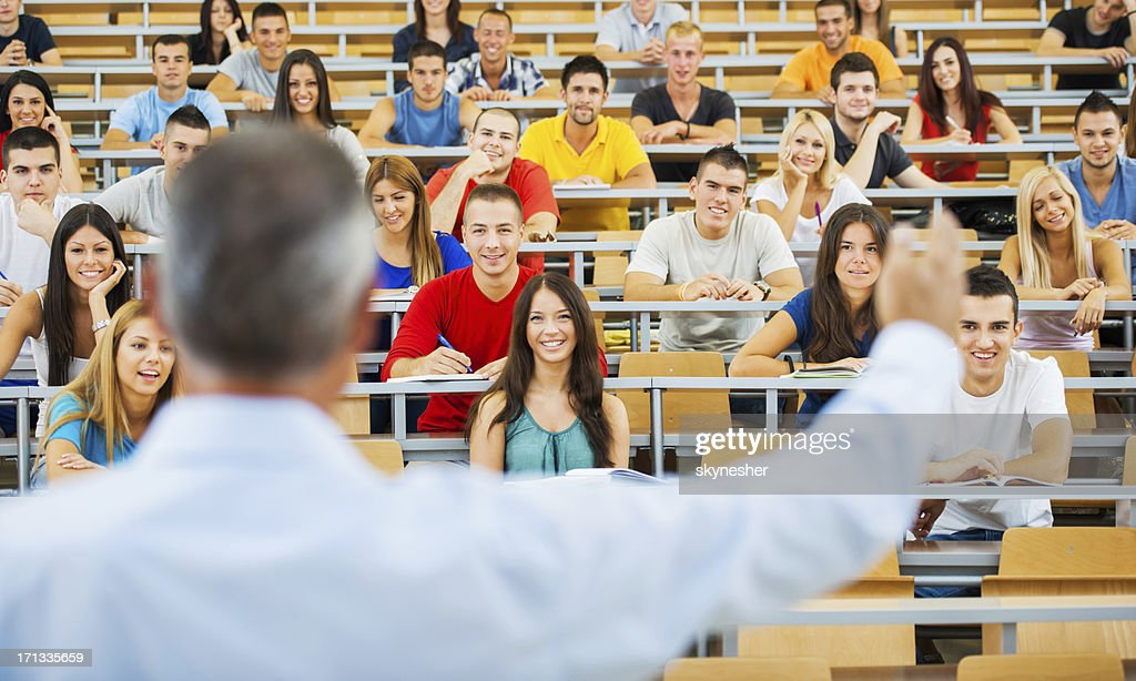 Professor giving a lecture. : Stock Photo
