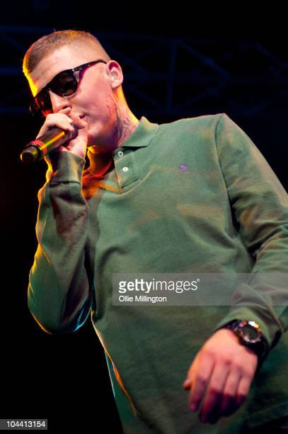 Professor Green, aka Stephen Paul Manderson performs on stage as the headliner for the first night at the brand new at O2 Academy on September 23,...