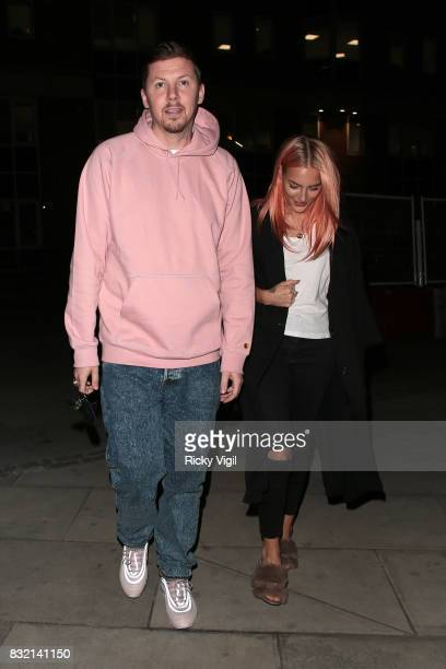 Professor Green and Fae Williams attend Ella Eyre single launch party at The Curtain on August 15 2017 in London England