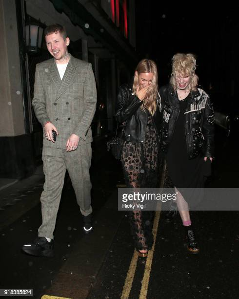 Professor Green and Fae Williams attend VO5 NME Awards 2018 Warner Music afterparty at The Ivy on February 14 2018 in London England