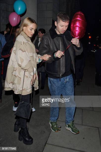 Professor Green and Fae Williams seen attending the Wonderland MTV party at the Ned hotel during LFW February 2018 on February 16 2018 in London...